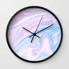 Pastel Unicorn Marble Dream #1 #pastel #decor #art #society6 Wall Clock