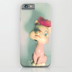 Vintage Staring Bobblehead Cat iPhone 6 Slim Case