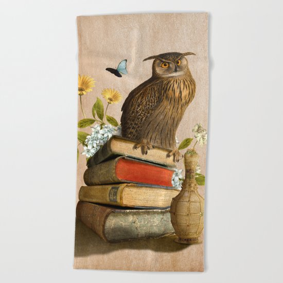 Wise Owl Beach Towel