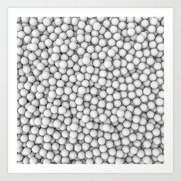 Golf balls Art Print