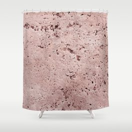 Millennial Pink Wall Shower Curtain