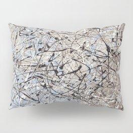 High Again - Jackson Pollock style abstract drip painting by Rasko Pillow Sham