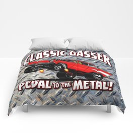 1957 Classic Chevy Gasser Comforters