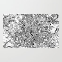 Madrid White Map Rug