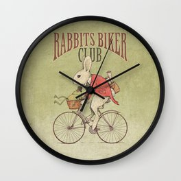 Rabbits Biker Club Wall Clock