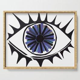 Blue Eye Warding Off Evil Serving Tray