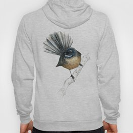 Mr Pīwakawaka, New Zealand native bird fantail Hoody