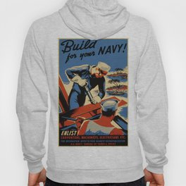 Vintage poster - Build for your Navy! Hoody