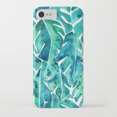 Split Leaf Philodendron – Teal Slim Case iPhone 7