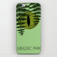 jurassic park iPhone & iPod Skins featuring Jurassic Park Minimalist by Kozicki Photography
