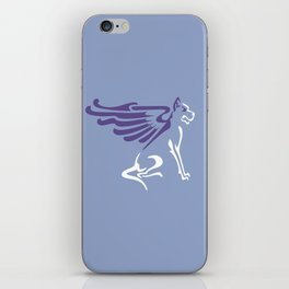 Winged dog iPhone Skin