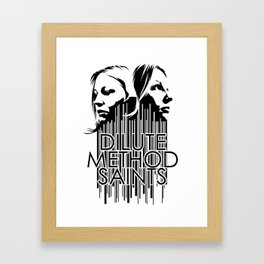 Dilute Method Saints Framed Art Print