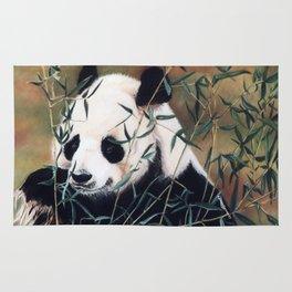 Panda Bear Pastel Painting Rug