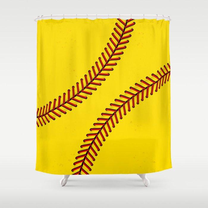 Fast Pitch Softball Shower Curtain