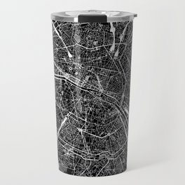 Paris Black Map Travel Mug