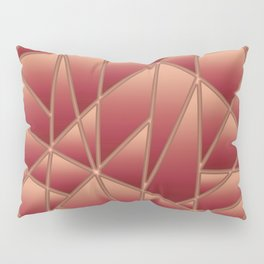 'Quilted' Geometric in Coral Pillow Sham