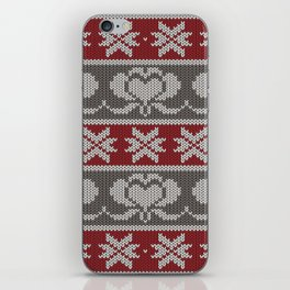 Ugly knitted Hearts iPhone Skin