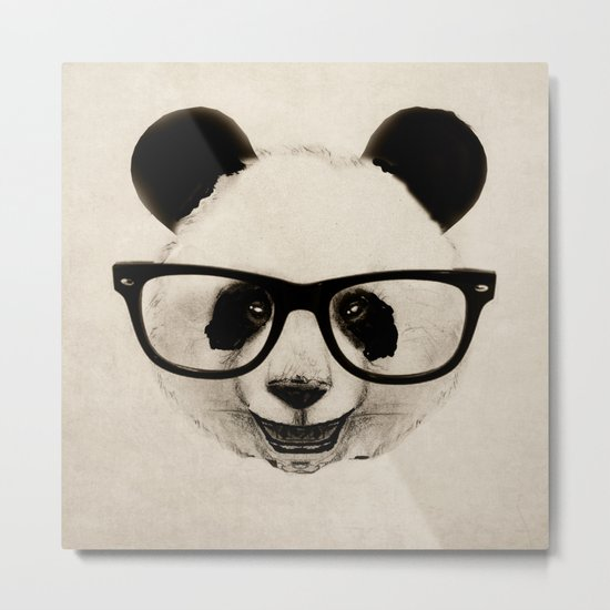 Panda Head Too Metal Print
