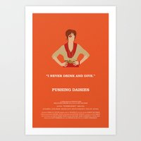 pushing daisies Art Prints featuring Pushing Daisies - Lily by MacGuffin Designs
