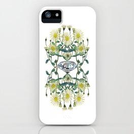 APRIL -Birth Stone & Flower Print iPhone Case