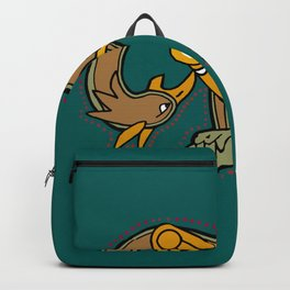 Celtic Medieval Griffin Letter M 201 Backpack