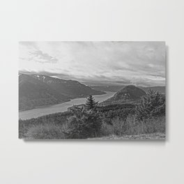 Columbia River Gorge Looking West Metal Print