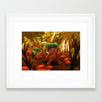 packers Framed Art Prints featuring BACK PACKERS by Colton Balske