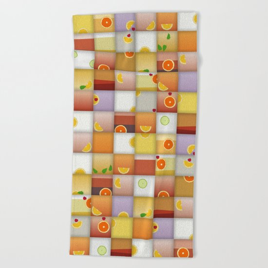cocktail squares Beach Towel