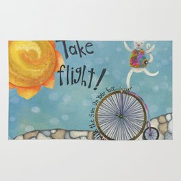 Take Flight With The Sun On Your Face Rug