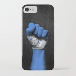 Honduran Flag on a Raised Clenched Fist iPhone Case