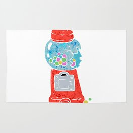 Bubble gum machine. Rug