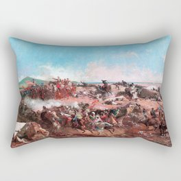 Mariano Fortuny - The Battle Of Tetouan - Digital Remastered Edition Rectangular Pillow