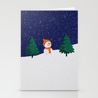 snowman Stationery Cards featuring Snowman ... by Mr and Mrs Quirynen