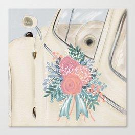 Wedding Day Bouquet Canvas Print