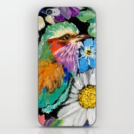 Lilac-breasted roller iPhone Skin