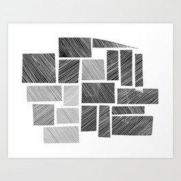 City Blocks Art Print