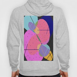 Random Thoughts I - Abstract, minimalist, scandinavian pop art Hoody