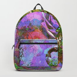 Peacock Watercolor Backpack