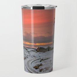 Peggys Winter Sunset Travel Mug