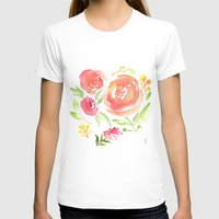 peonies T-shirts featuring Peonies by Dea Brazil