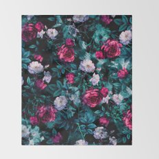 RPE FLORAL ABSTRACT III Throw Blanket