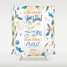 SILENCE THAT DREAMED OF BECOMING A SONG Shower Curtain
