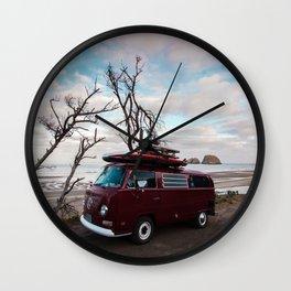 Van on the Coast Wall Clock