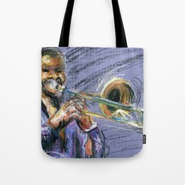 Jazz Trombonist Tote Bag