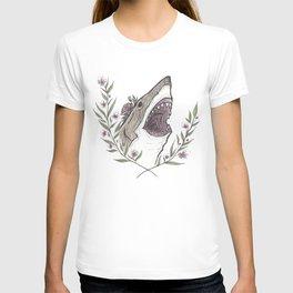 Floral Shark T-shirt