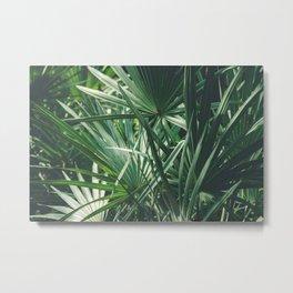 Moody Tropical Leaves Metal Print