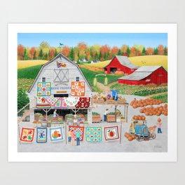 Autumn Quilts Art Print