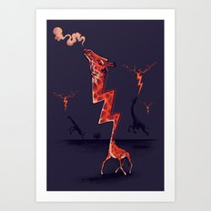 lightning rod Art Print