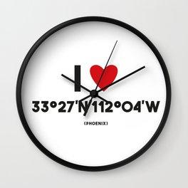 I LOVE PHOENIX Wall Clock