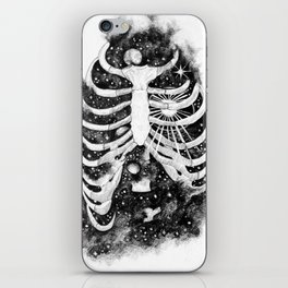 Space inbetween the ribs iPhone Skin